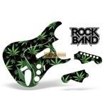 Guitar Skin Rock Band Stratocaster: Green Weed PS3