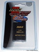Max Power 3 Battery Pack for PSP 2000/3000 - Big capacity 2680mAh - Lithium Tech