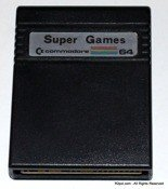 Super Games - Cartridge for Commodore C64 with 3 games - TESTED, WARRANTY
