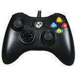 Official Microsoft X360 and PC WIRED Controller - Black SLIM NEW Genuine